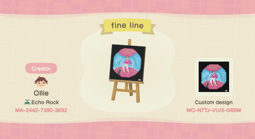 Fine Line - Animal Crossing: New Horizons Custom Design