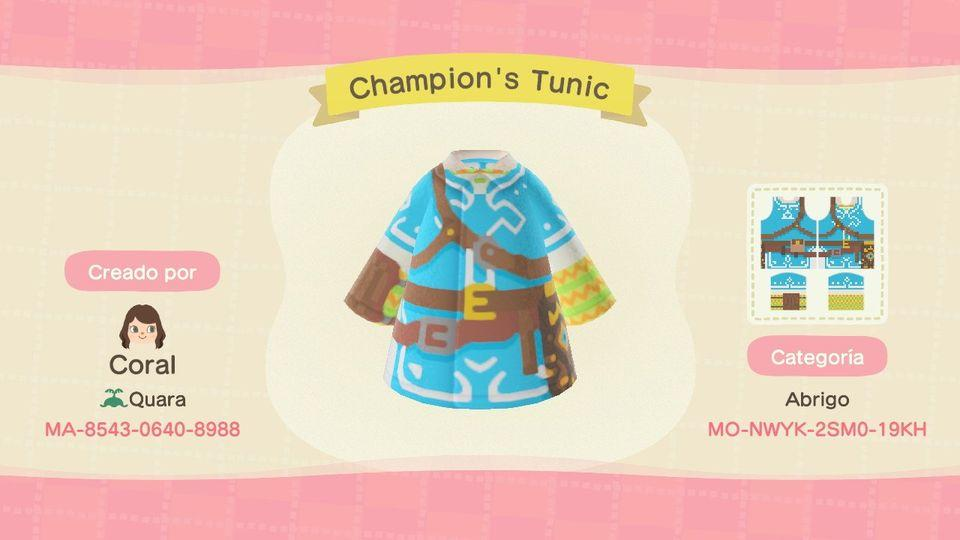 Champion's Tunic - Animal Crossing: New Horizons Custom Design