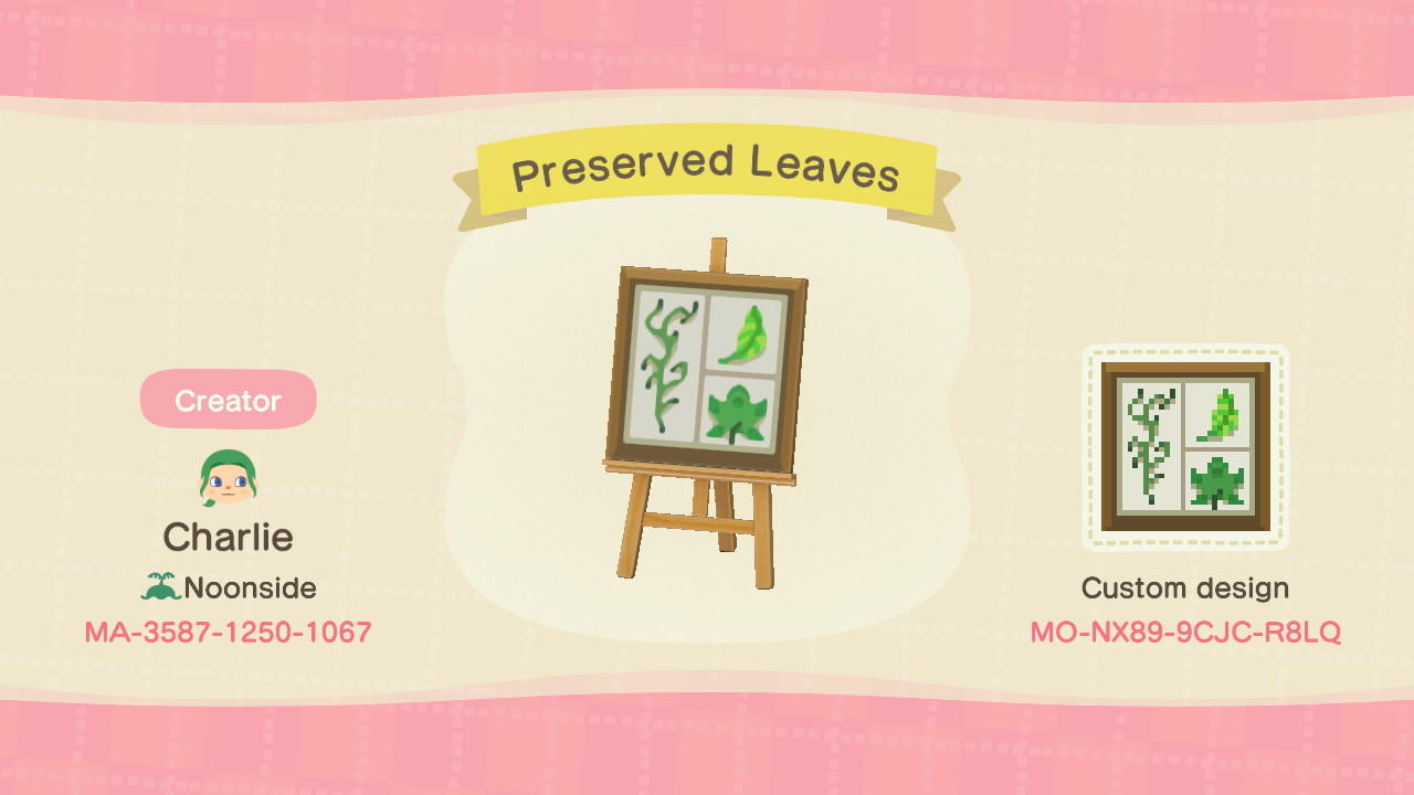 Preserved Leaves - Animal Crossing: New Horizons Custom Design
