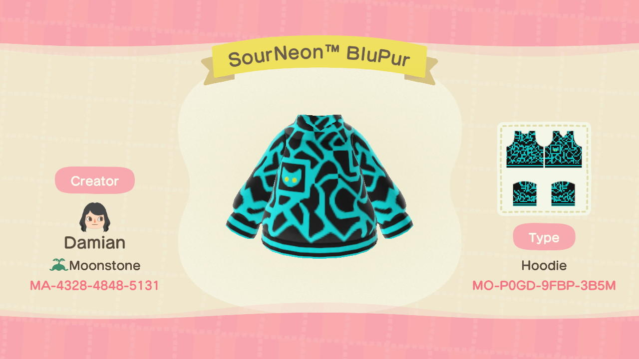 SourNeonTM BluPur - Animal Crossing: New Horizons Custom Design