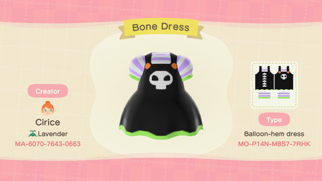 Bone Dress - Animal Crossing: New Horizons Custom Design