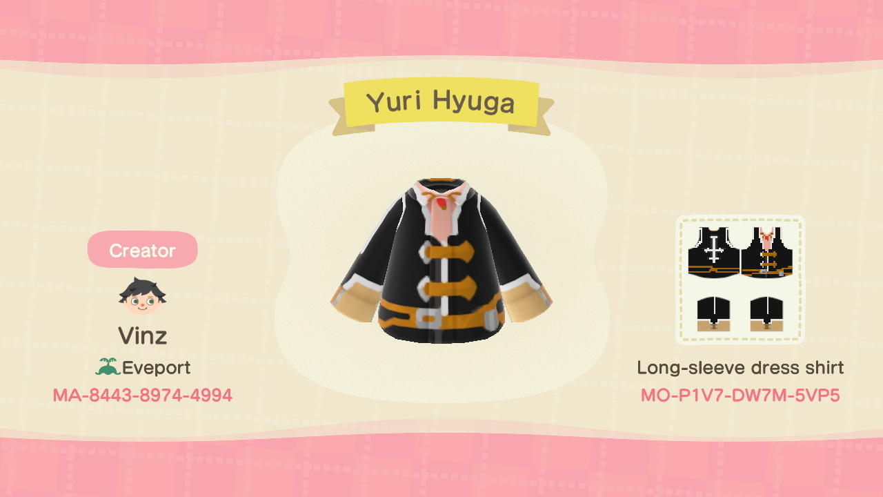 Yuri Hyuga - Animal Crossing: New Horizons Custom Design