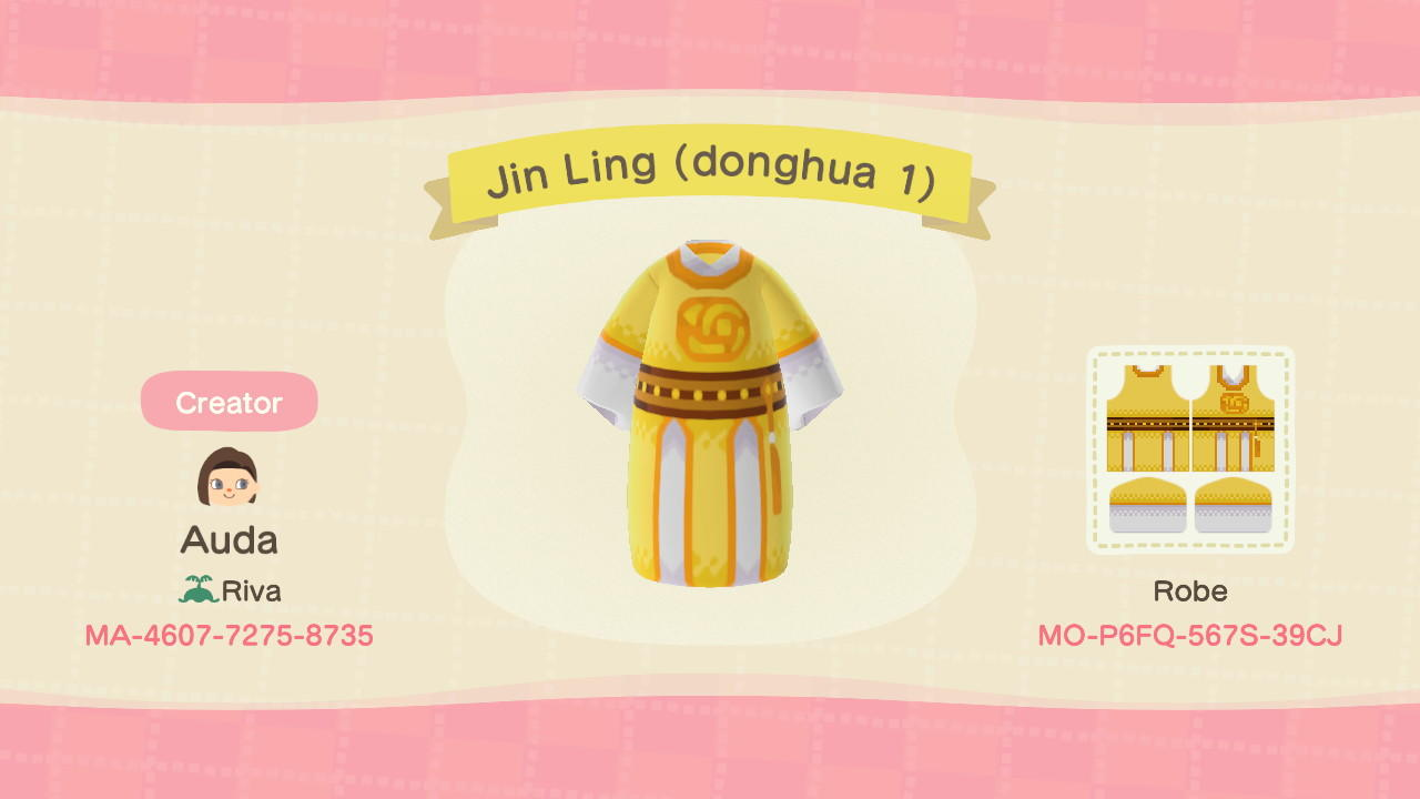 Jin Ling (donghua 1) - Animal Crossing: New Horizons Custom Design