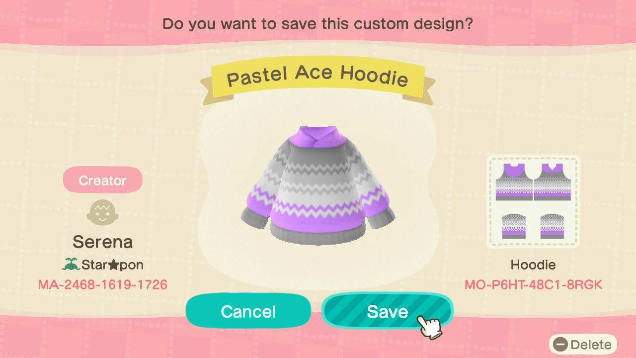 Pastel Ace Hoodie - Animal Crossing: New Horizons Custom Design