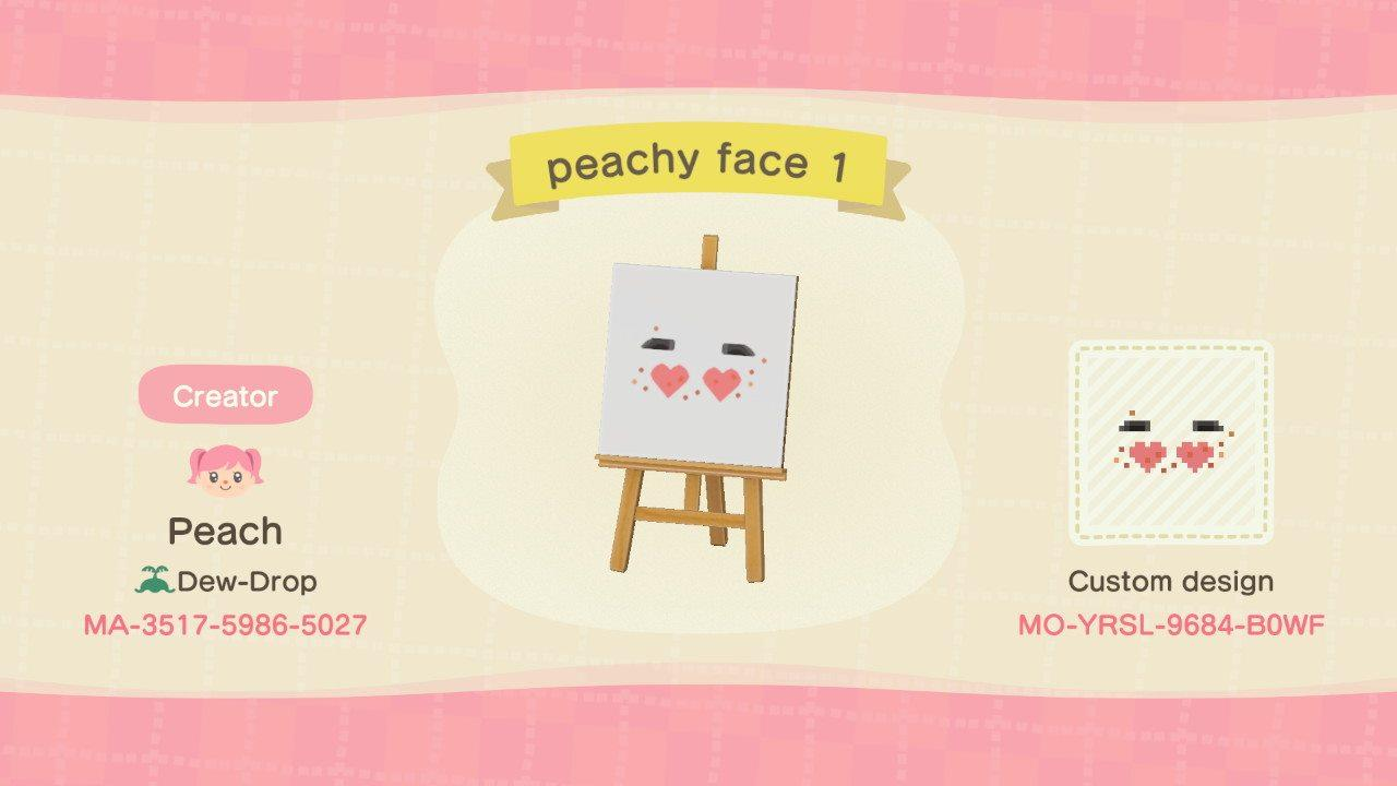 peachy face 1 - Animal Crossing: New Horizons Custom Design