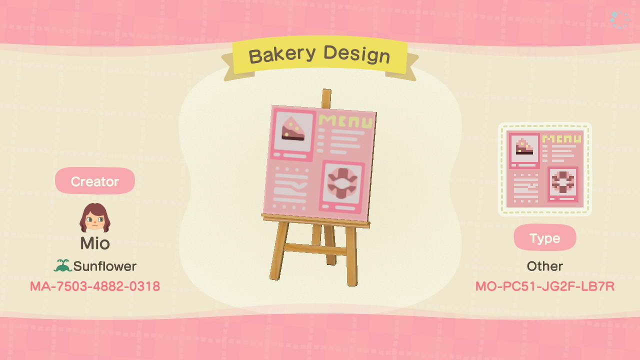 Bakery Shop - Animal Crossing: New Horizons Custom Design