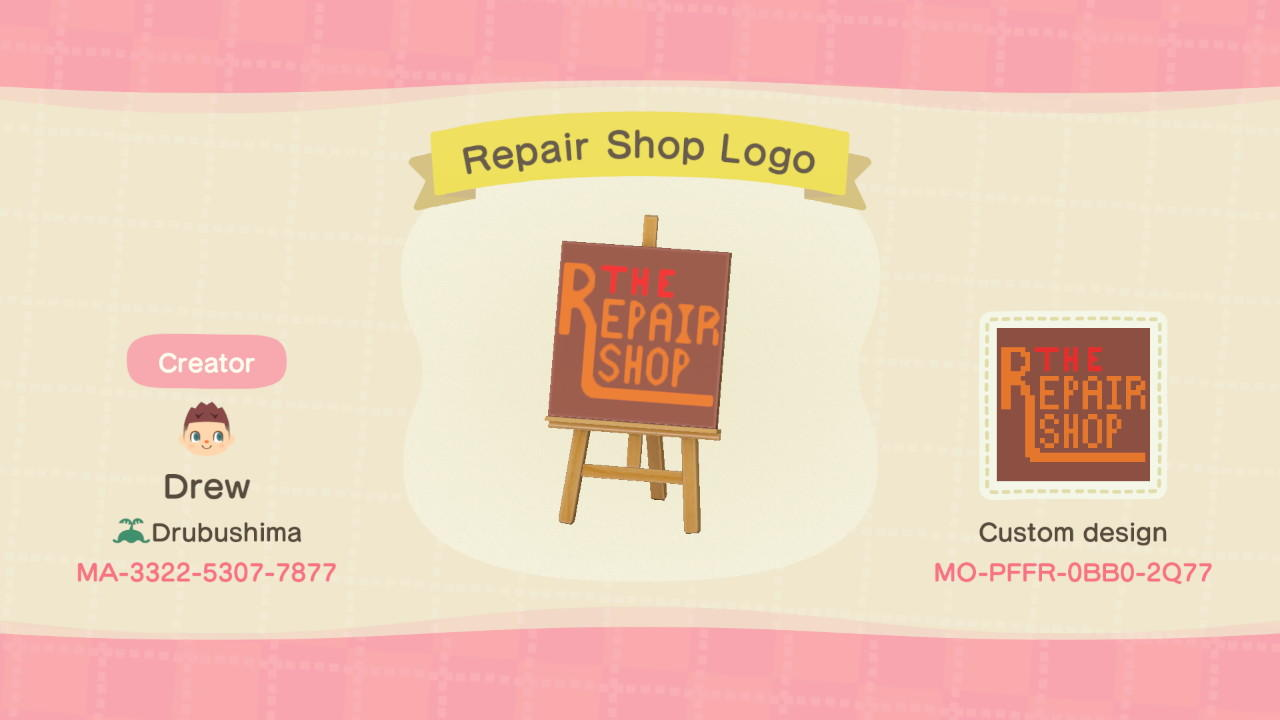 The Repair Shop Logo - Animal Crossing: New Horizons Custom Design