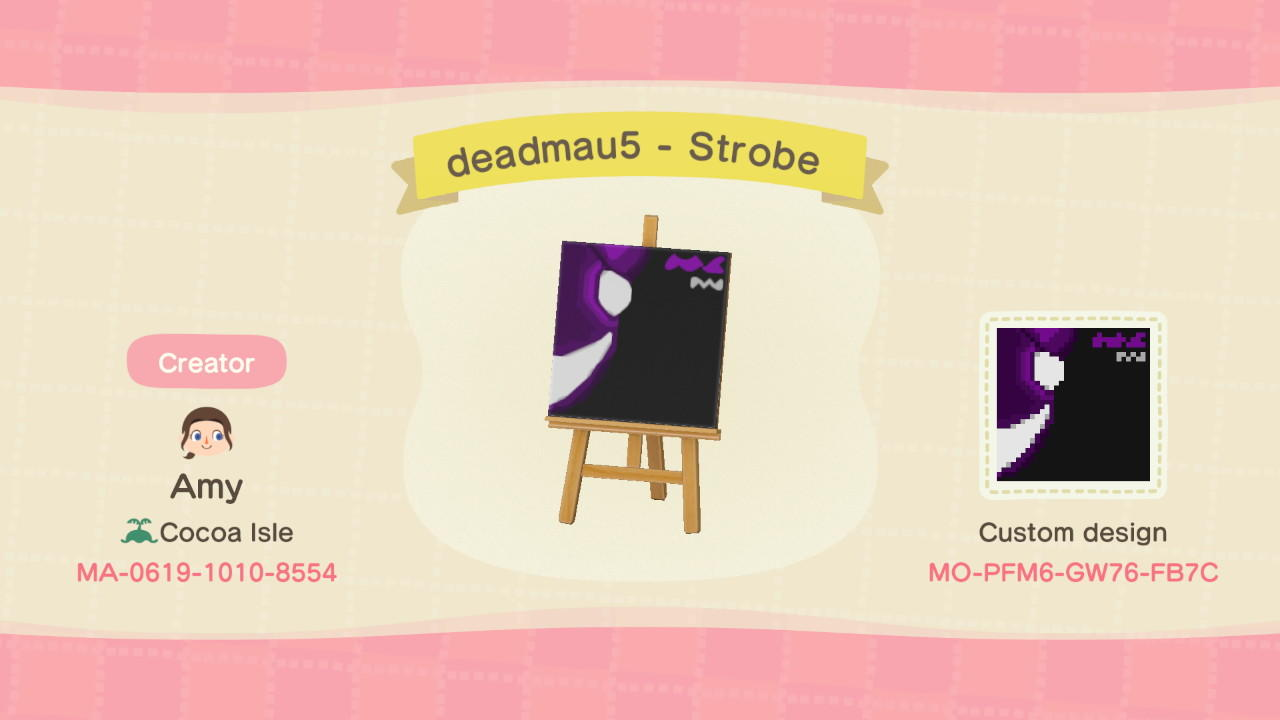 deadmau5 - Strobe - Animal Crossing: New Horizons Custom Design