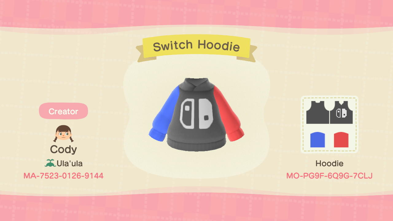 Switch Hoodie - Animal Crossing: New Horizons Custom Design
