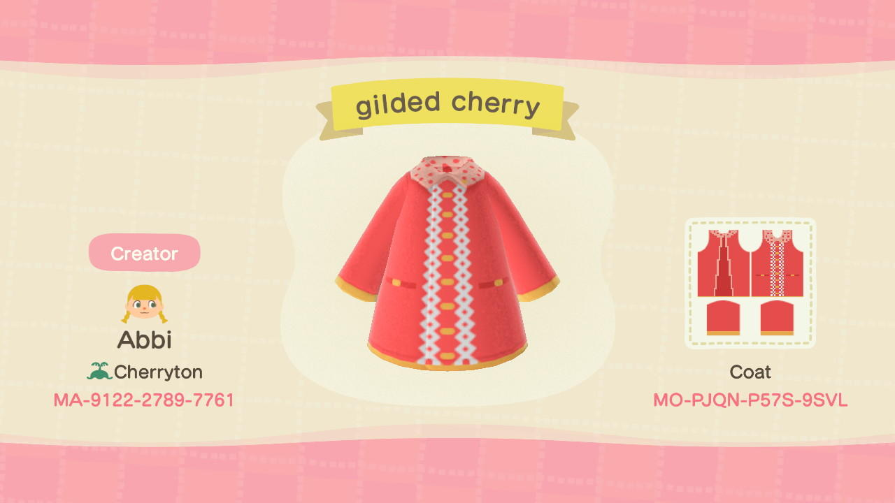 Gilded Cherry - Animal Crossing: New Horizons Custom Design
