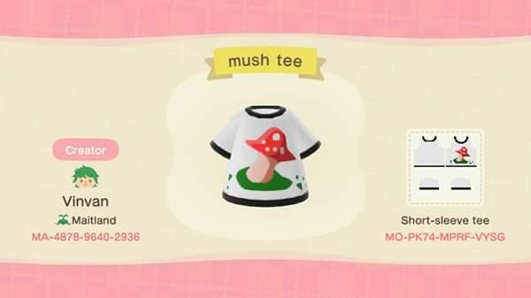 mush tee - Animal Crossing: New Horizons Custom Design