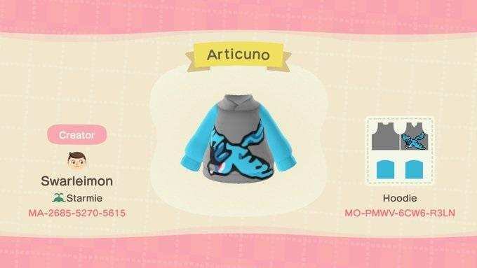 Articuno - Animal Crossing: New Horizons Custom Design