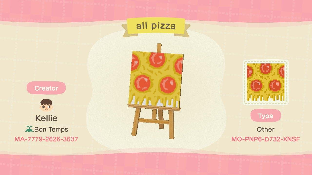 all pizza - Animal Crossing: New Horizons Custom Design