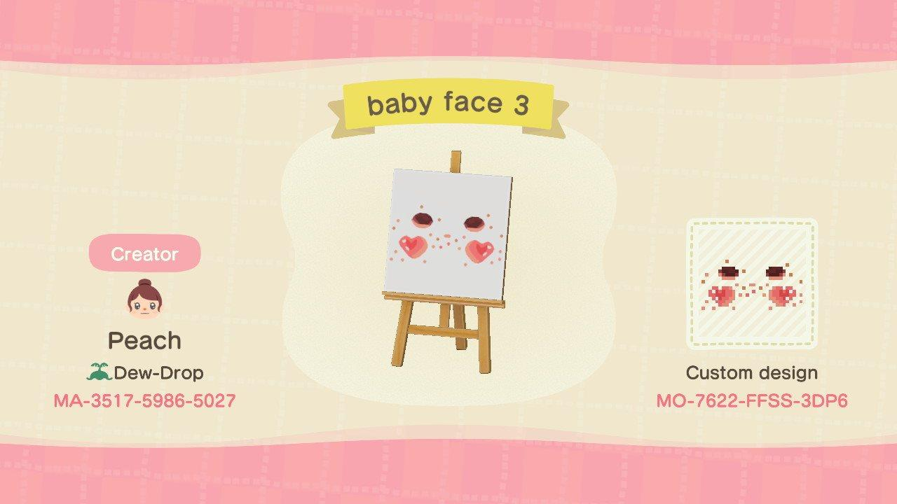 baby face 3 - Animal Crossing: New Horizons Custom Design