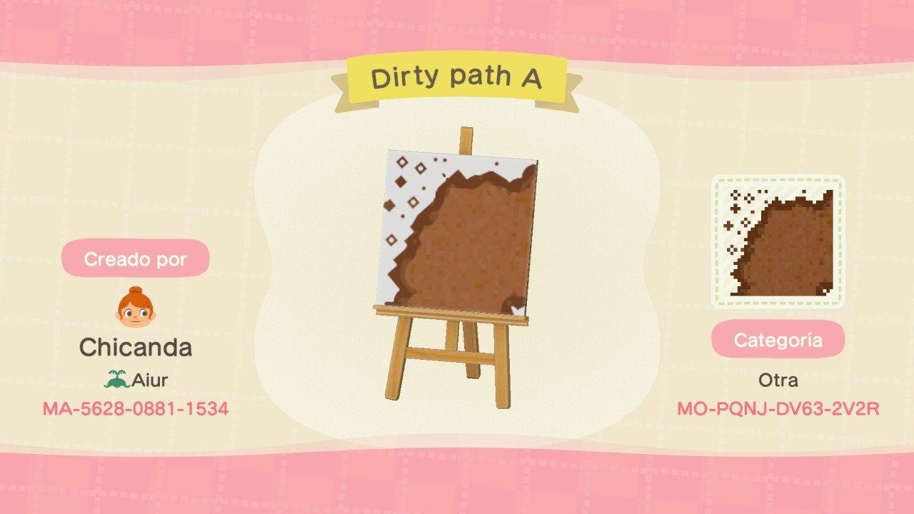 Dirty path A - Animal Crossing: New Horizons Custom Design