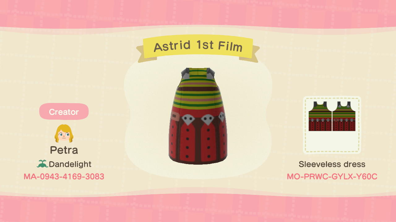 Astrid 1st Film - Animal Crossing: New Horizons Custom Design