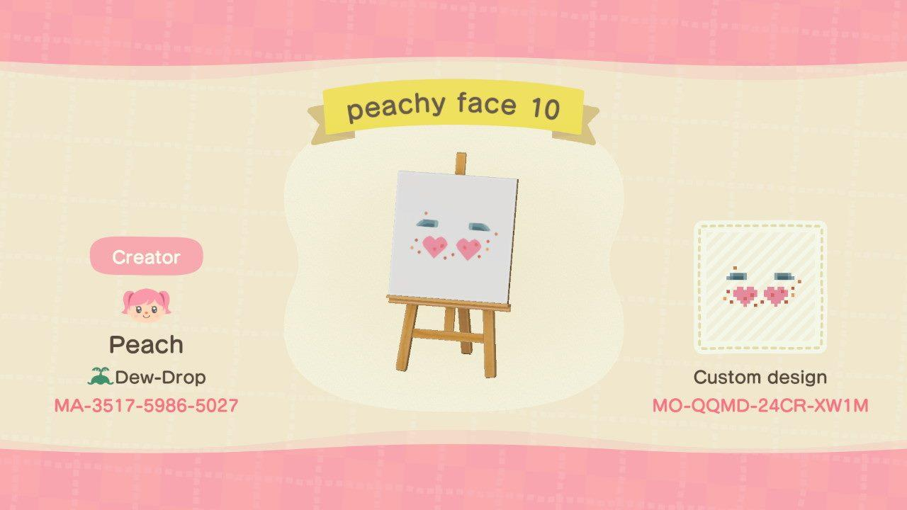 peachy face 10 - Animal Crossing: New Horizons Custom Design