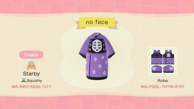 No Face Spiritedaway Animal Crossing New Horizons Custom Design Nook S Island