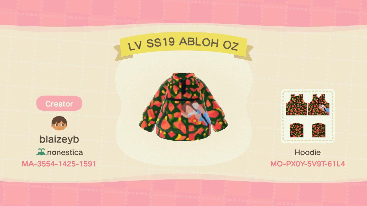 LV SS19 Abloh OZ - Animal Crossing: New Horizons Custom Design
