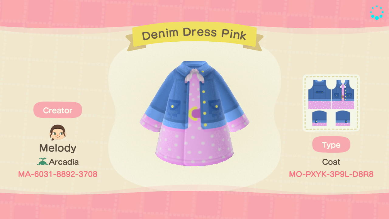 Denim Dress Pink - Animal Crossing: New Horizons Custom Design