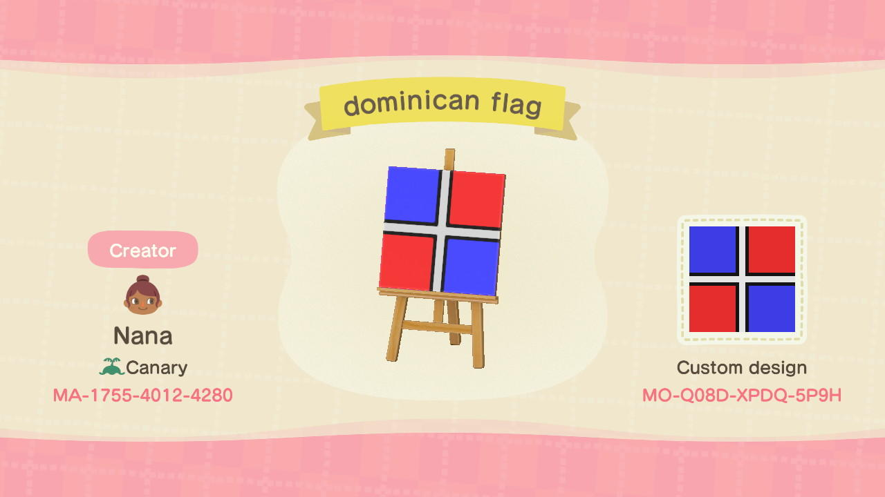DOMINICAN FLAG - Animal Crossing: New Horizons Custom Design
