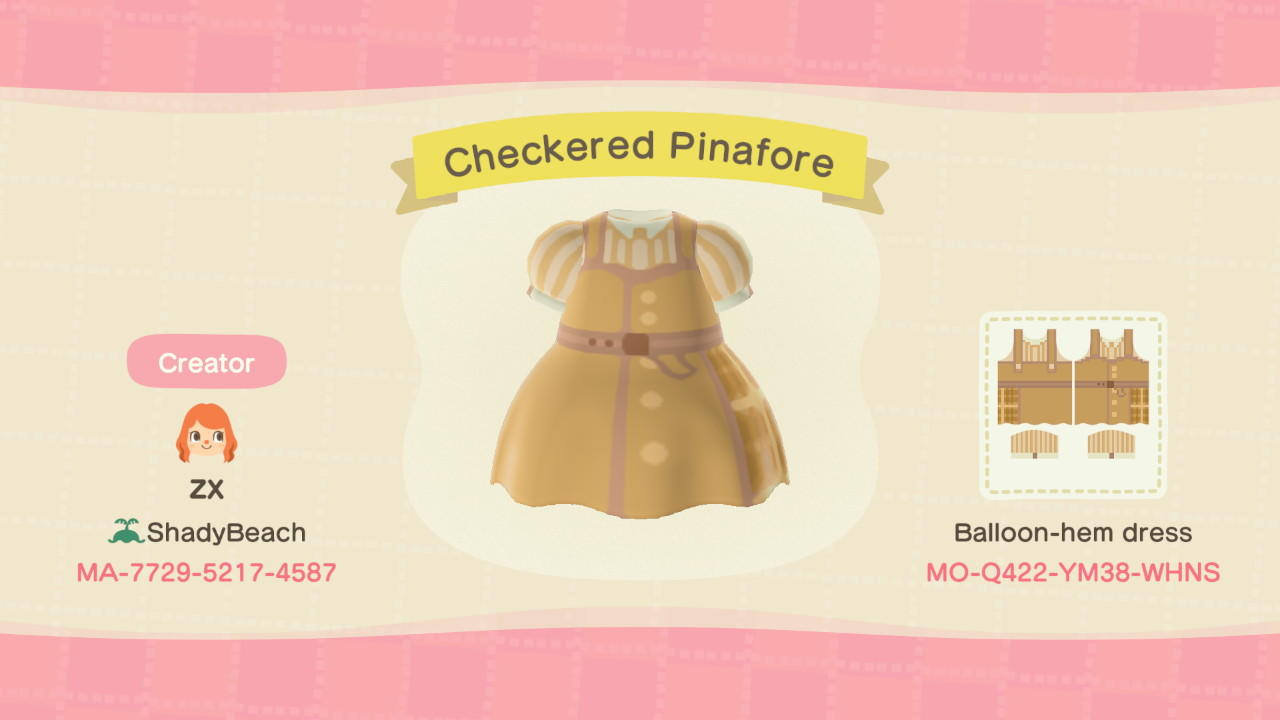 Checkered Pinafore