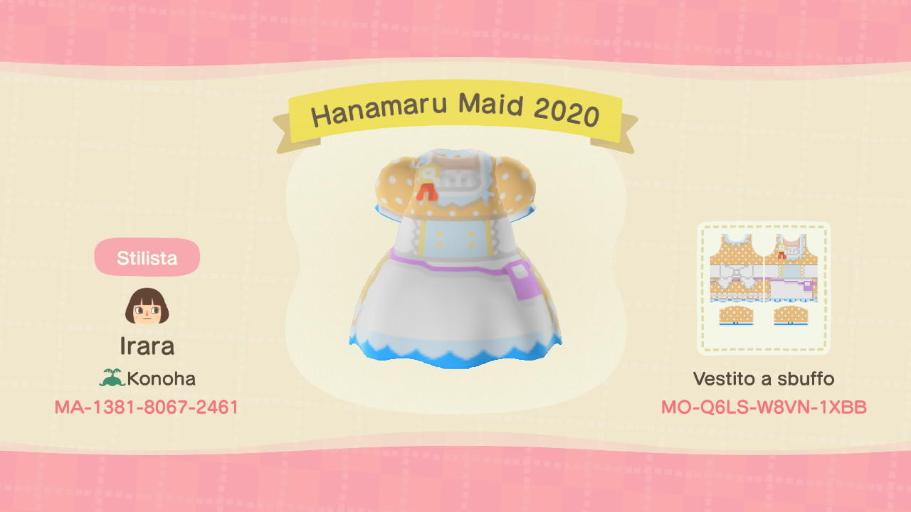 Hanamaru Maid 2020 - Animal Crossing: New Horizons Custom Design