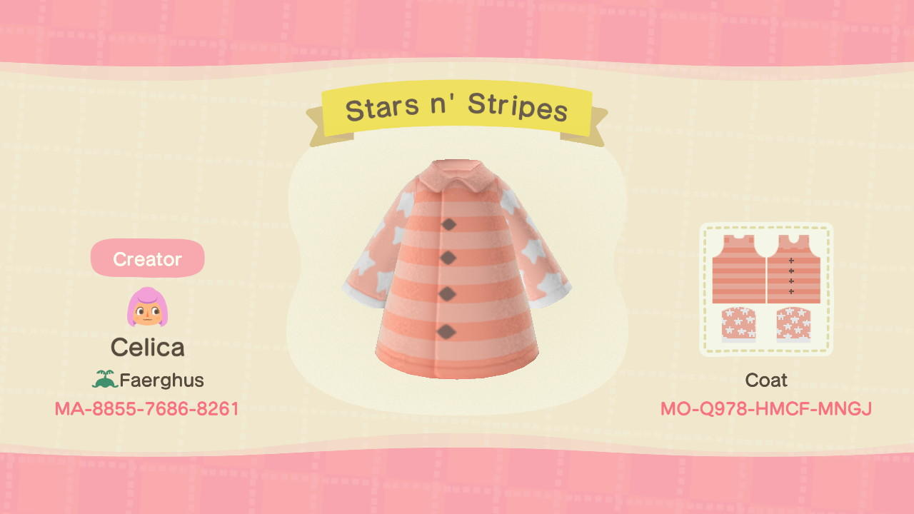 Stars n' Stripes - Animal Crossing: New Horizons Custom Design