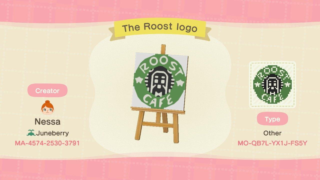 The Roost Logo (SB) - Animal Crossing: New Horizons Custom Design