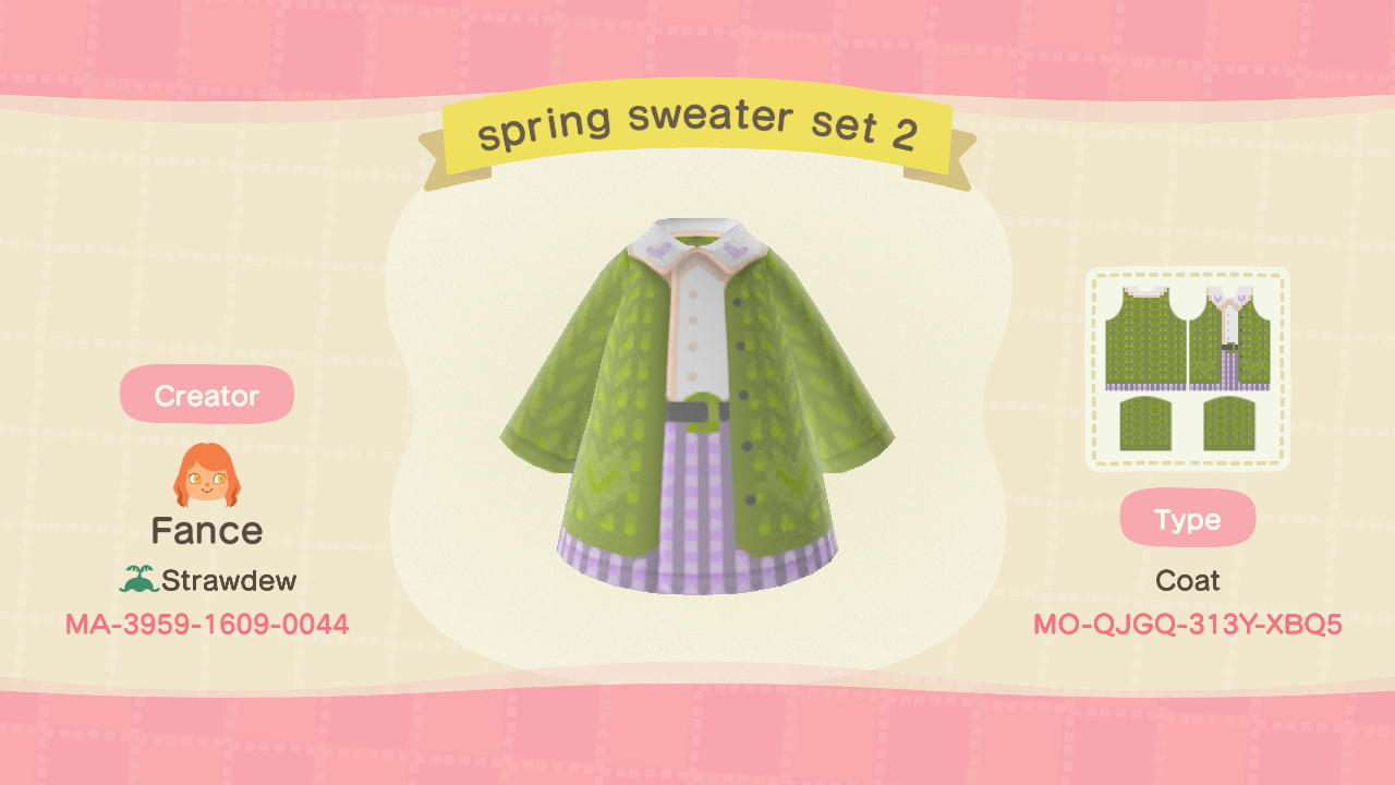 Spring sweater set - Animal Crossing: New Horizons Custom Design