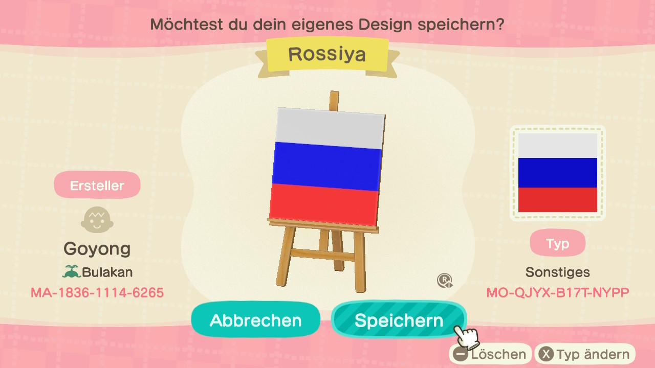 Russia - Animal Crossing: New Horizons Custom Design
