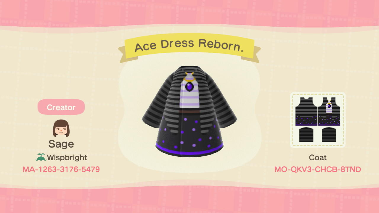 Ace Dress Reborn. - Animal Crossing: New Horizons Custom Design