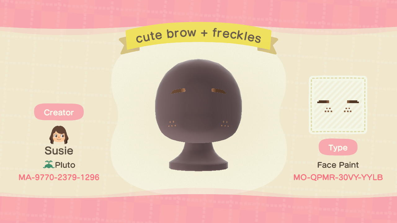 Cute Brow + Freckles - Animal Crossing: New Horizons Custom Design
