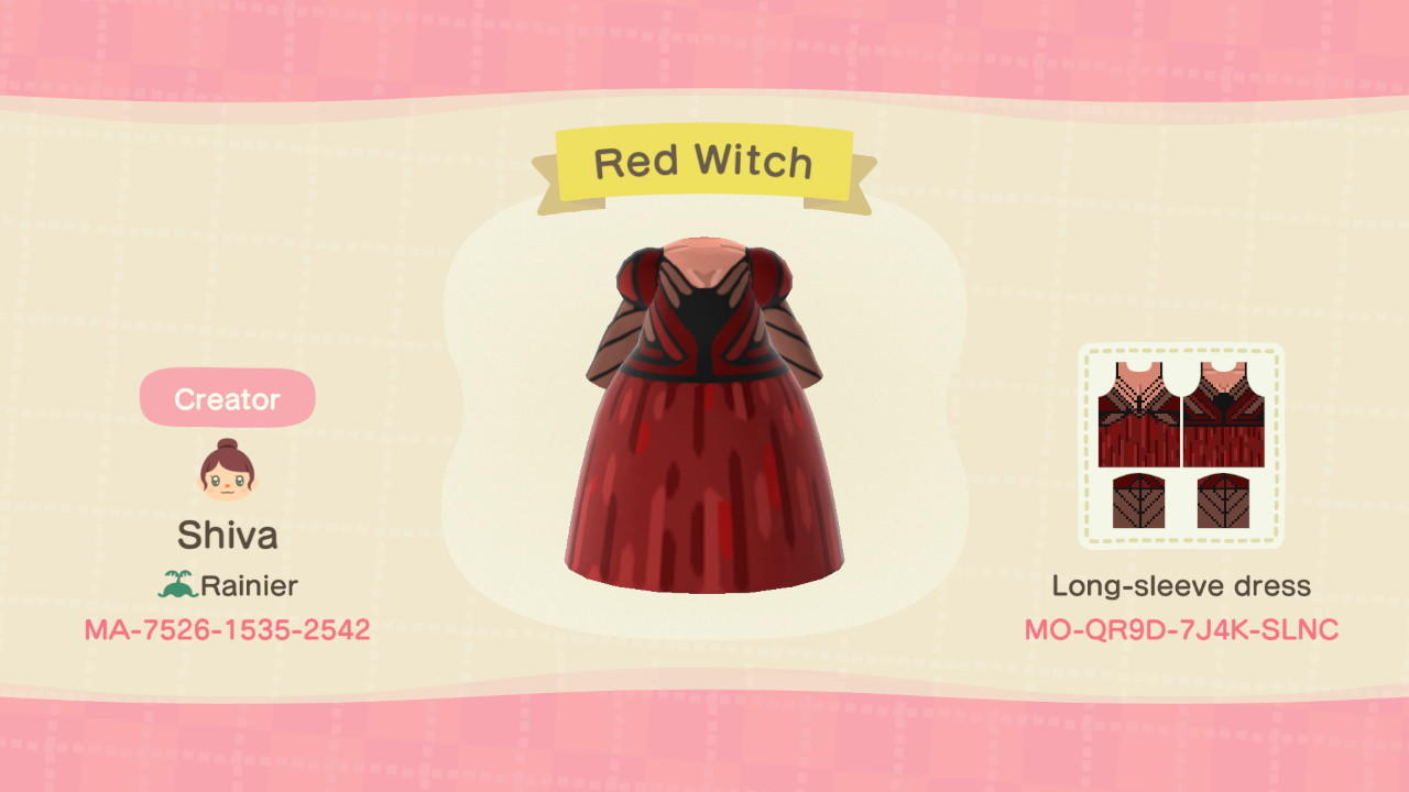 Red Witch - Animal Crossing: New Horizons Custom Design