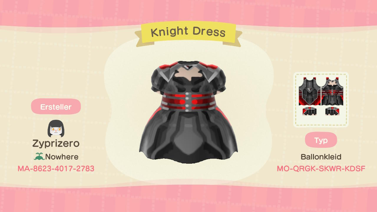 Knight Dress - Animal Crossing: New Horizons Custom Design