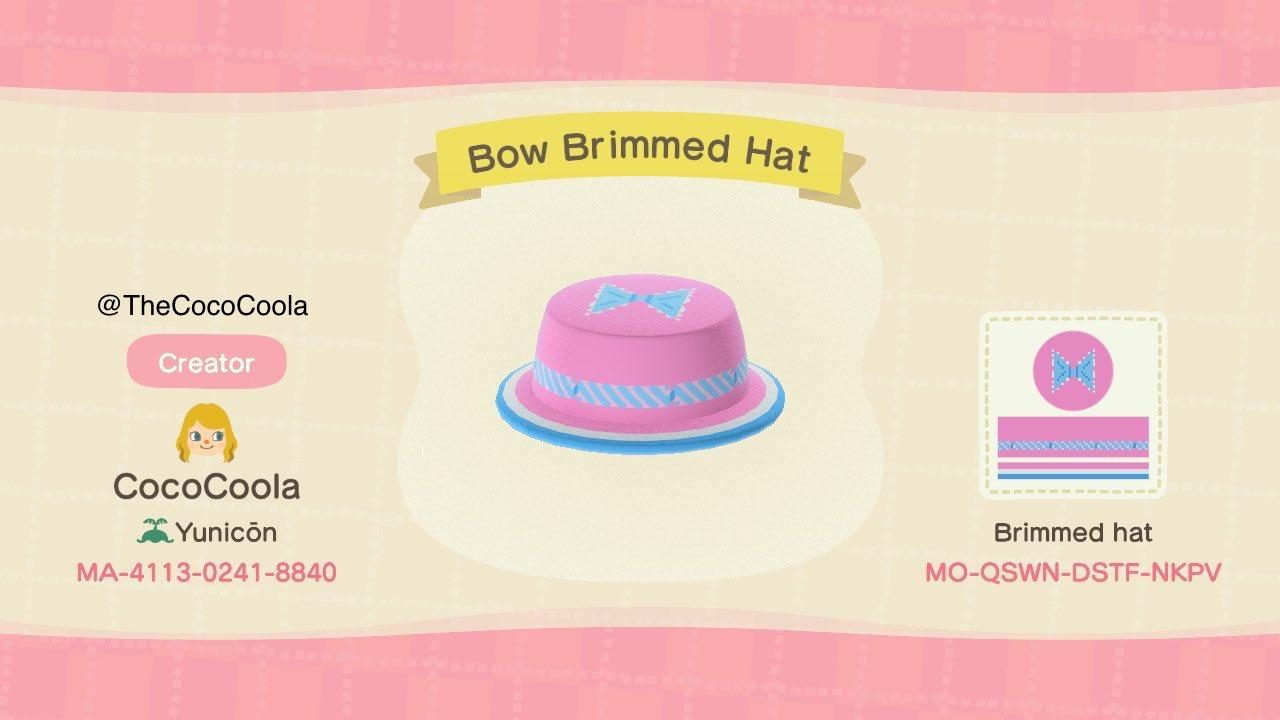 Bow Brimmed Hat - Animal Crossing: New Horizons Custom Design
