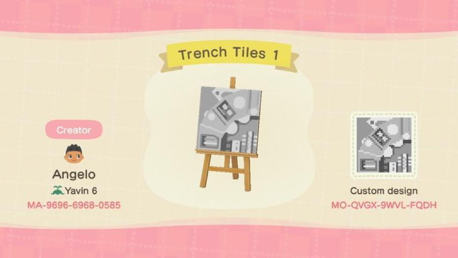Trench Tiles 1 - Animal Crossing: New Horizons Custom Design
