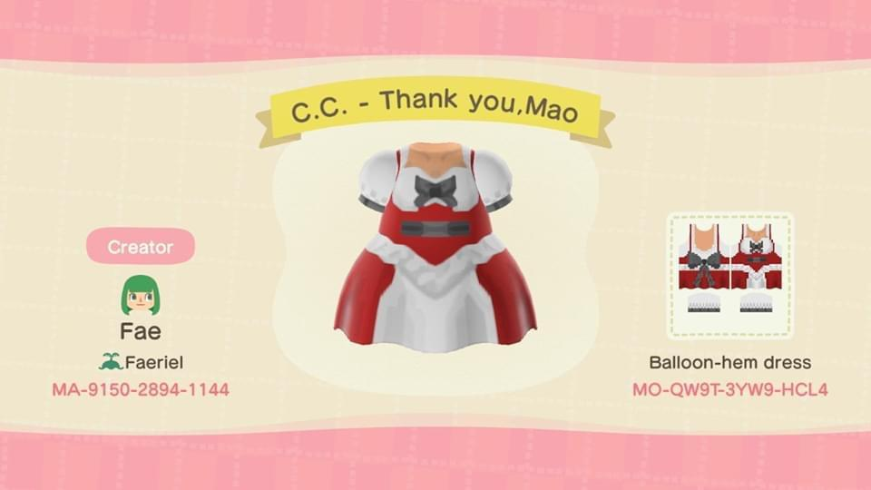 C.C. - Thank you,Mao - Animal Crossing: New Horizons Custom Design