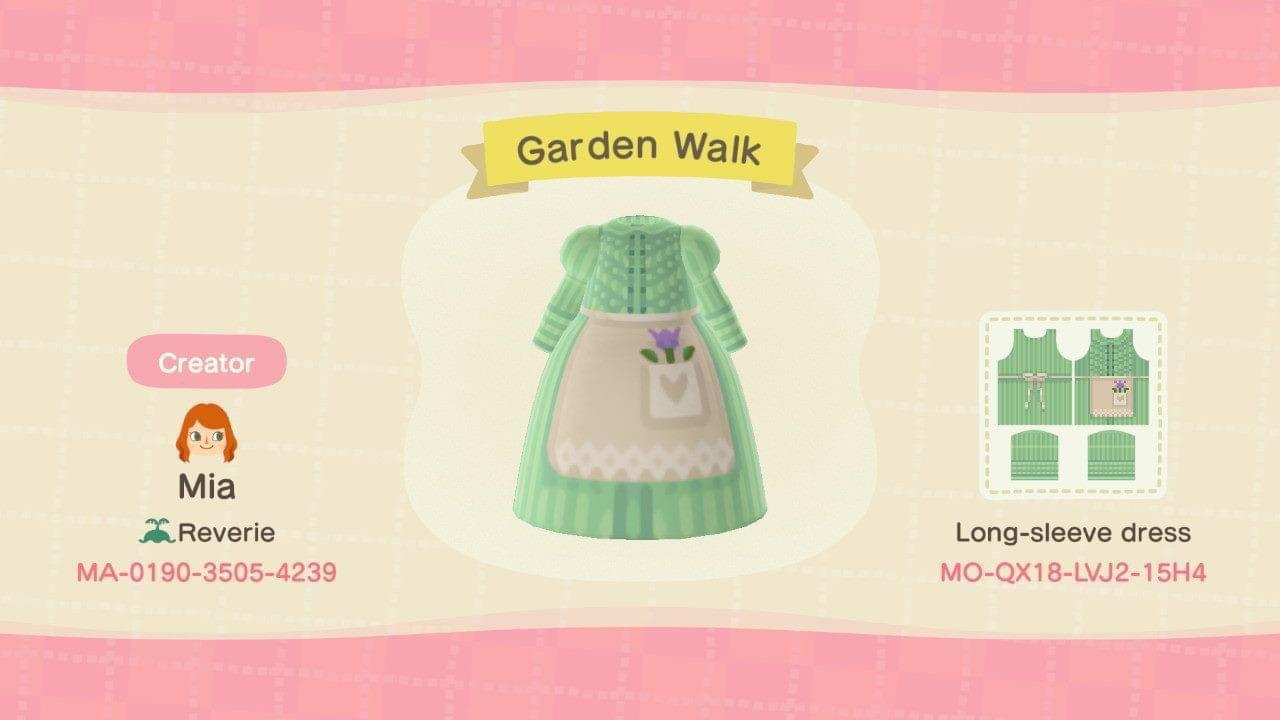 Garden Walk - Animal Crossing: New Horizons Custom Design