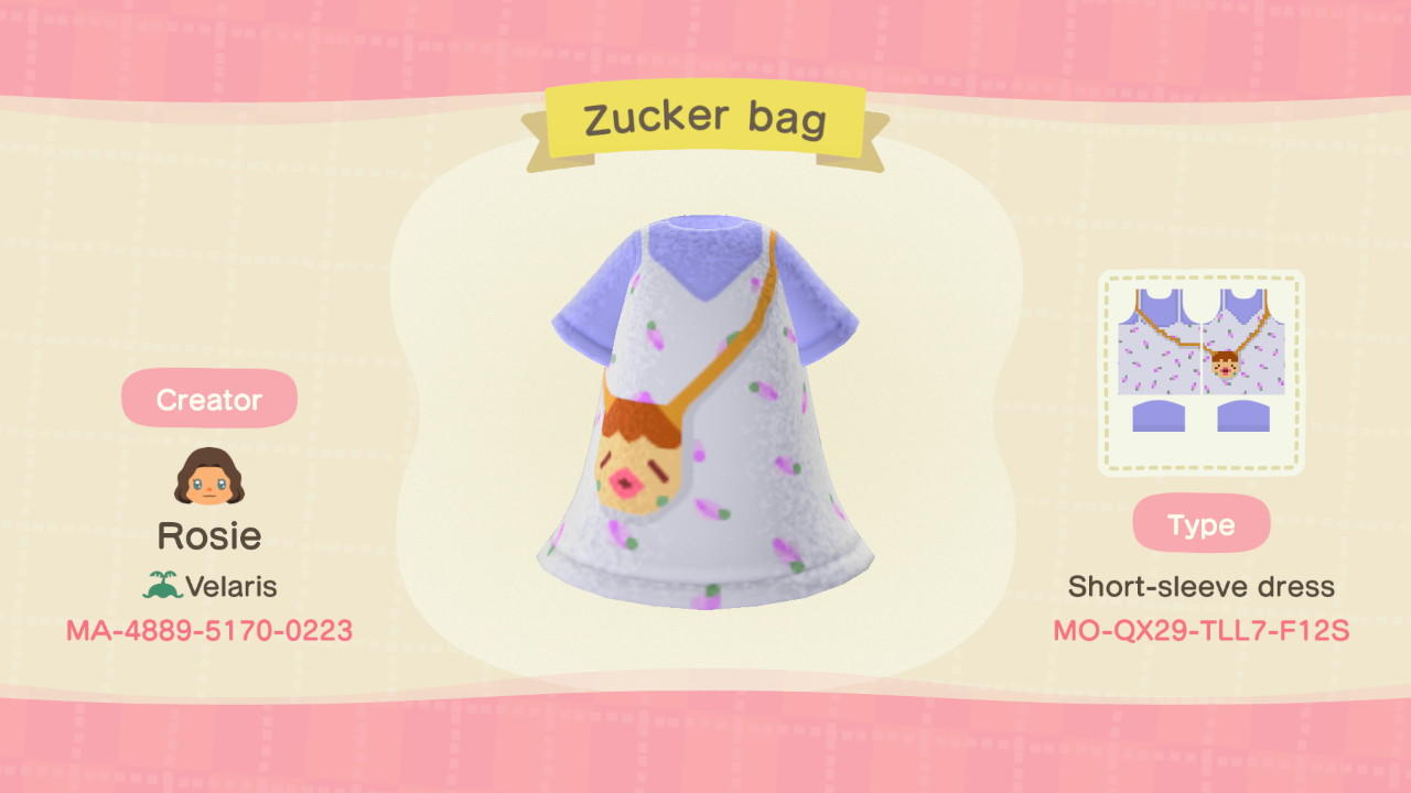 Zucker bag - Animal Crossing: New Horizons Custom Design