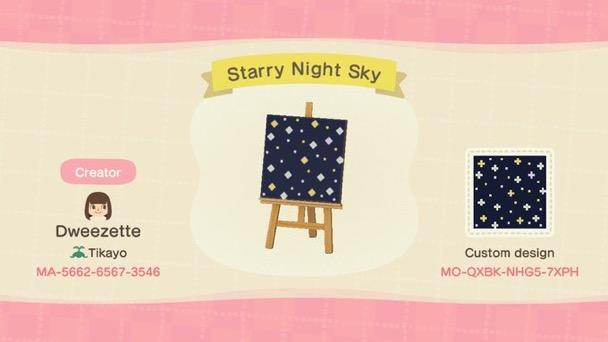 Starry Night Sky - Animal Crossing: New Horizons Custom Design