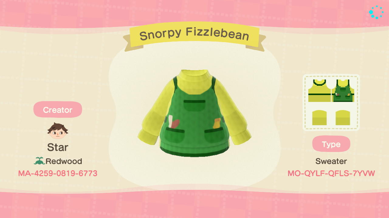 Snorpy Fizzlebean  - Animal Crossing: New Horizons Custom Design