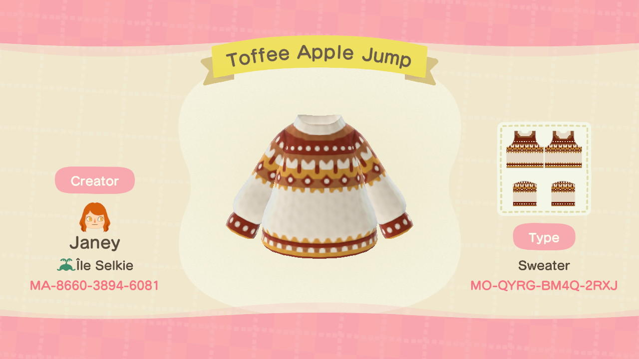 Toffee Apple Jumper - Animal Crossing: New Horizons Custom Design