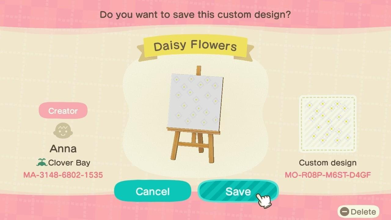 Daisy flowers - Animal Crossing: New Horizons Custom Design