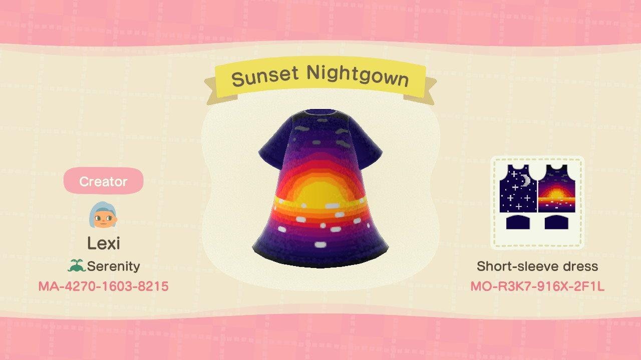 Sunset Nightgown - Animal Crossing: New Horizons Custom Design