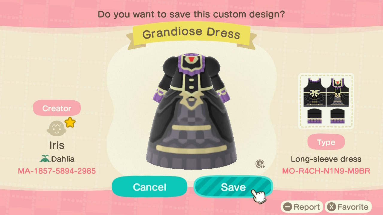 Grandiose Dress - Animal Crossing: New Horizons Custom Design