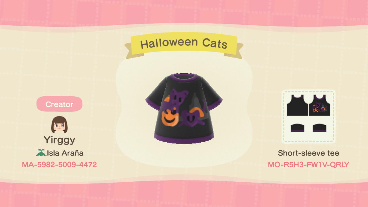 Halloween Cats - Animal Crossing: New Horizons Custom Design