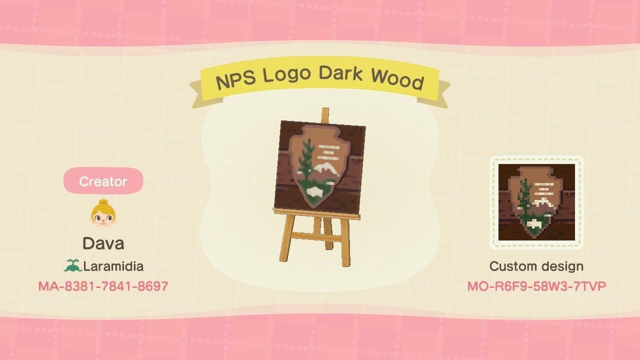 NPS Logo Dark Wood - Animal Crossing: New Horizons Custom Design