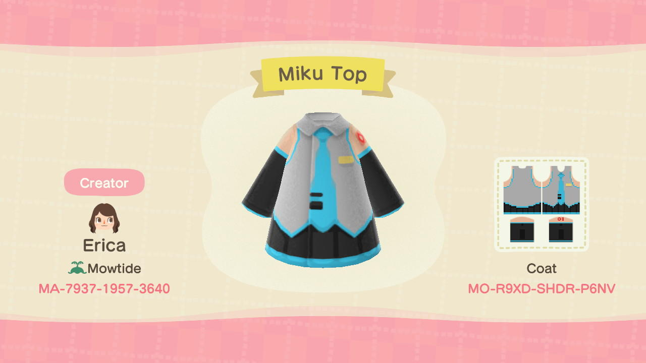 Miku Top - Animal Crossing: New Horizons Custom Design