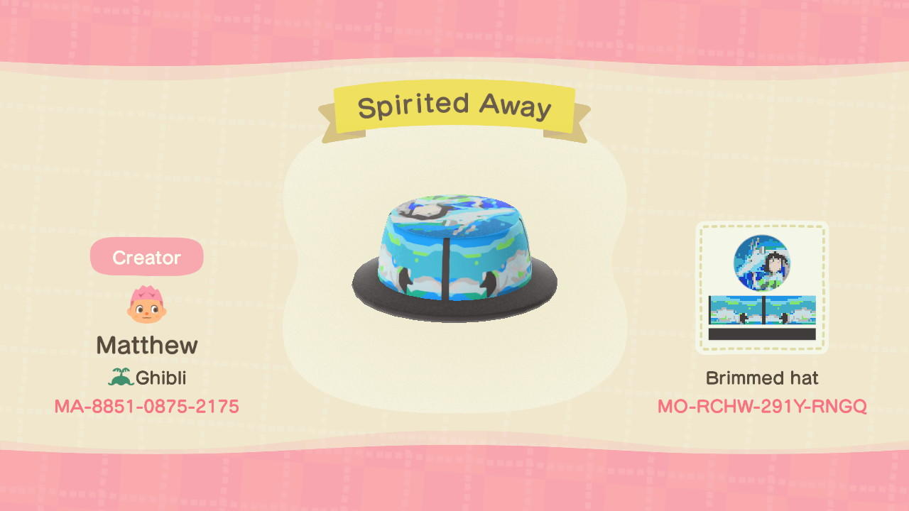 Spirited Away Animal Crossing New Horizons Custom Design Nook S Island